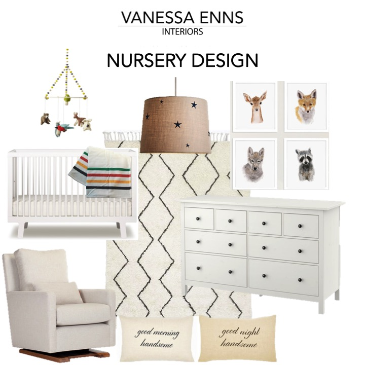 Vanessa Enns Interiors Boy Nursery Design