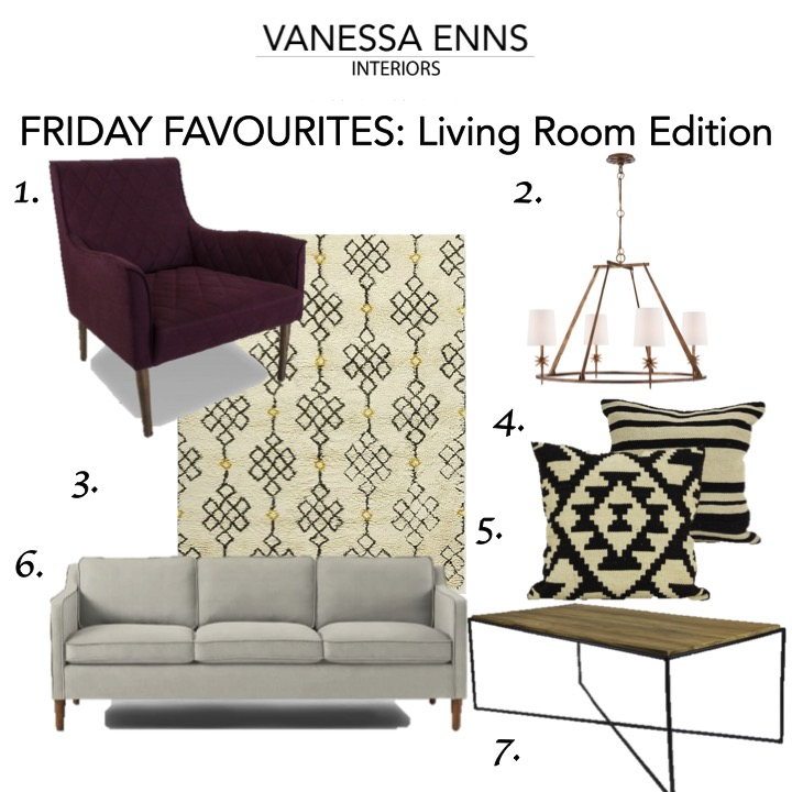 Vanessa Enns Interiors Friday Favourites Living Room