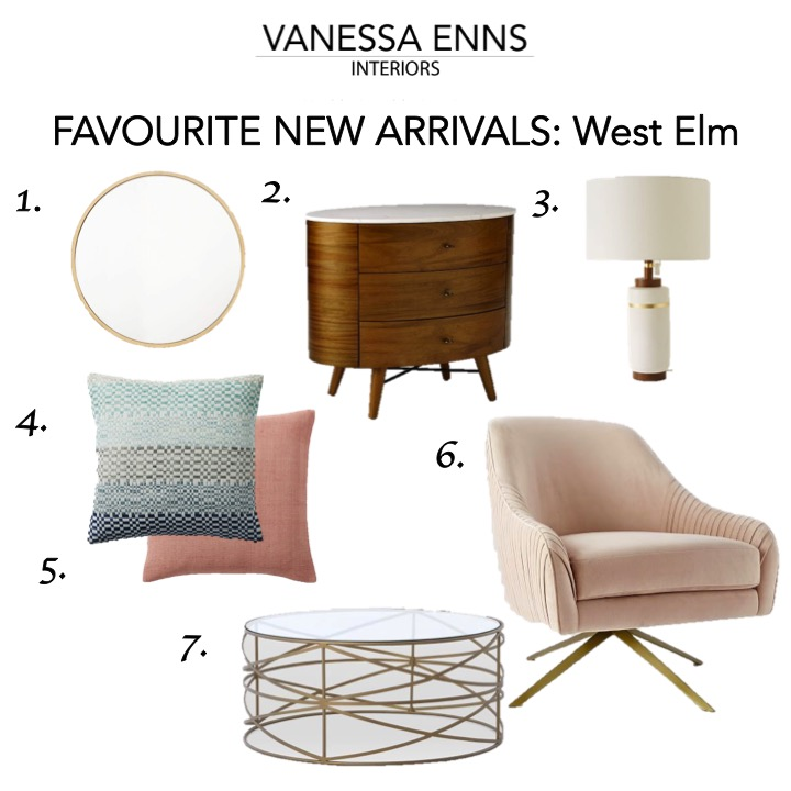 Vanessa Enns Interiors New Arrivals West Elm