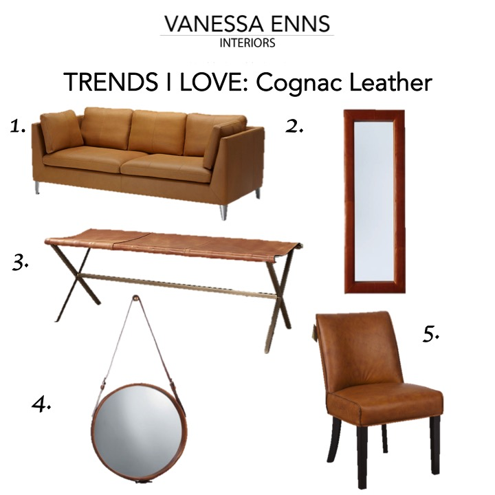 Vanessa Enns Interiors Trend Cognac Leather