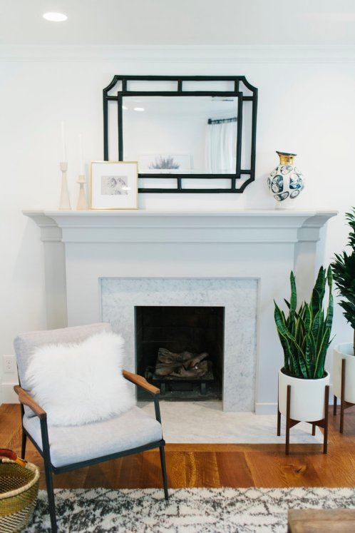 Gray fireplace | Studio McGee
