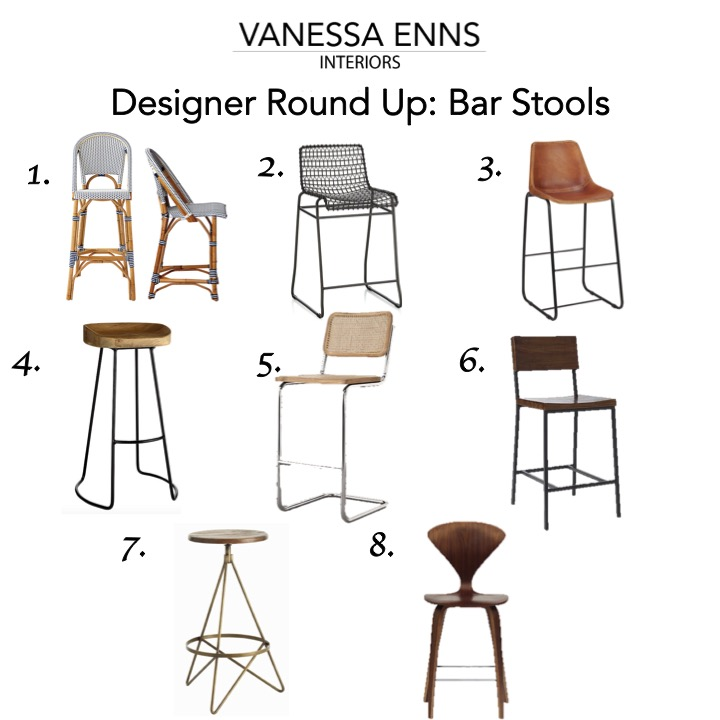 Vanessa Enns Interiors Designer Round Up Bar Stools