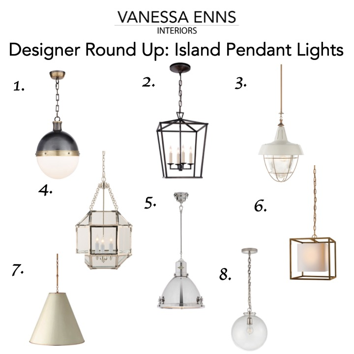 Vanessa Enns Interiors Designer Round Up Island Pendant Lights
