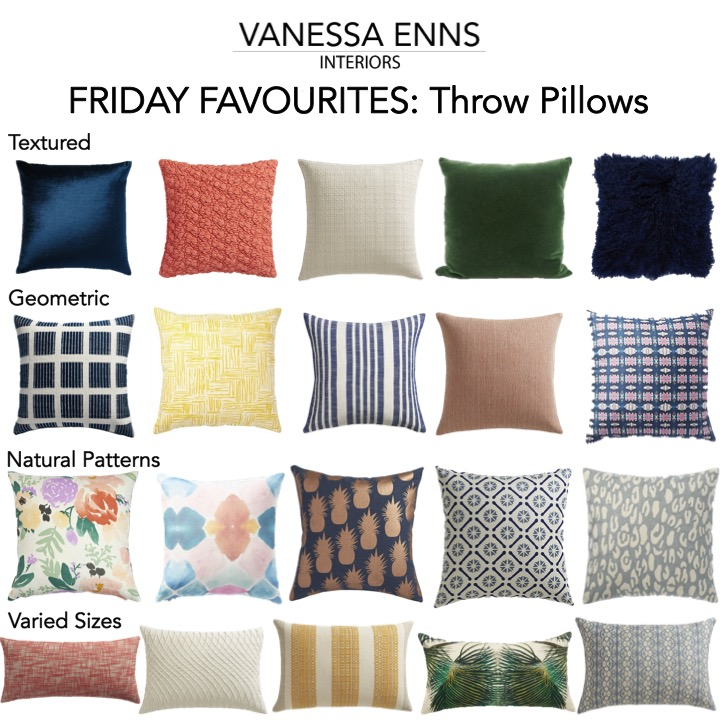 Vanessa Enns Interiors Friday Favourites Throw Pillows