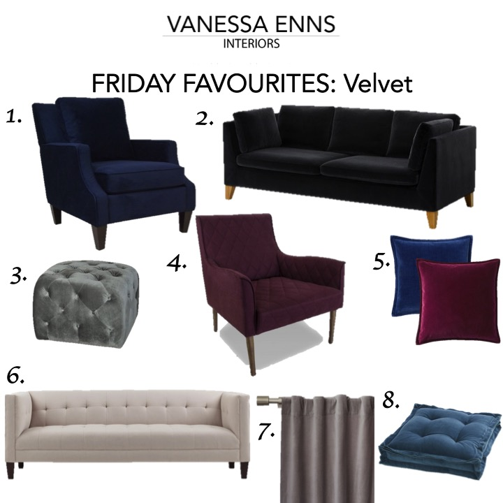 Vanessa Enns Interiors Friday Favourites Velvet