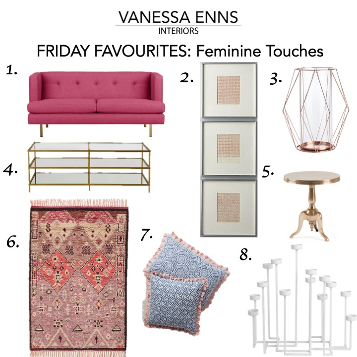Vanessa Enns Interiors Friday Favourites Feminine Touches